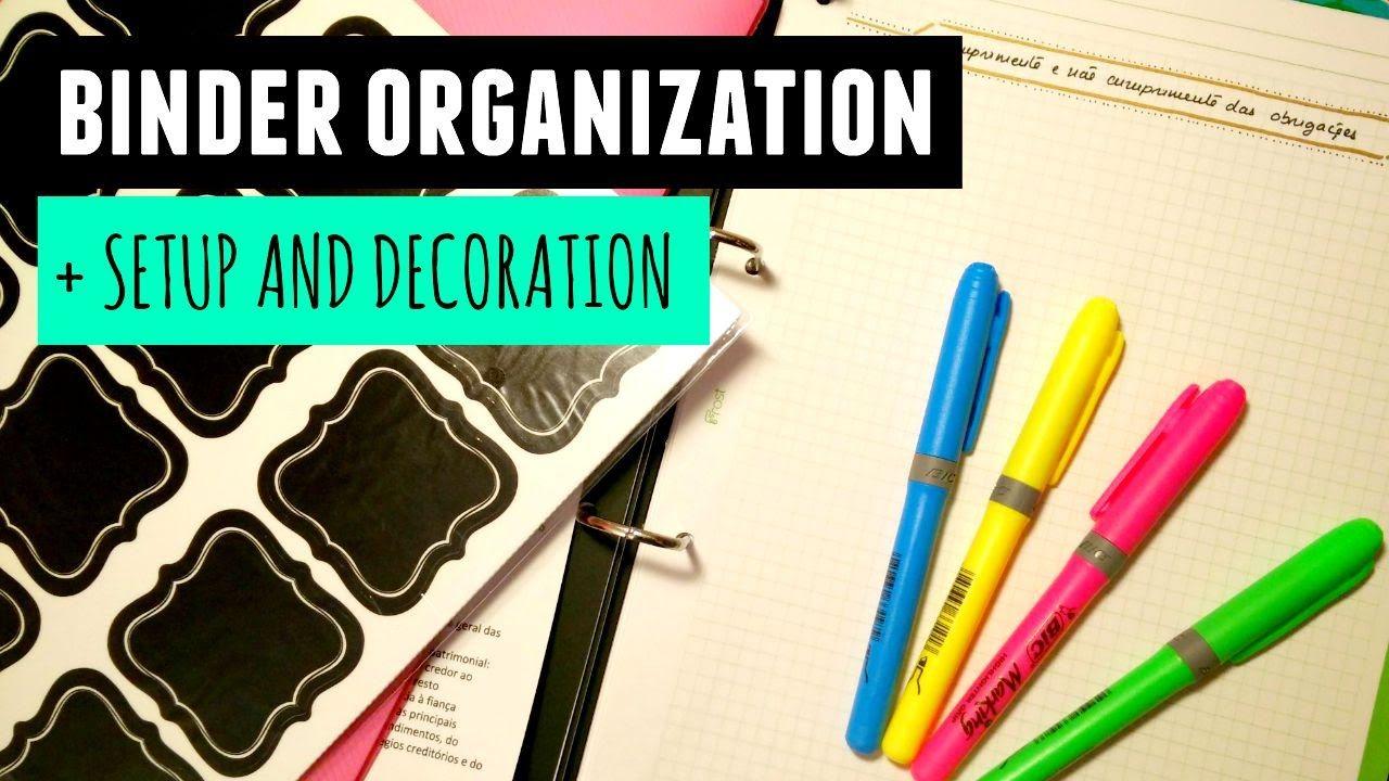 Binder Organization Tips + Setup & Decor Binder