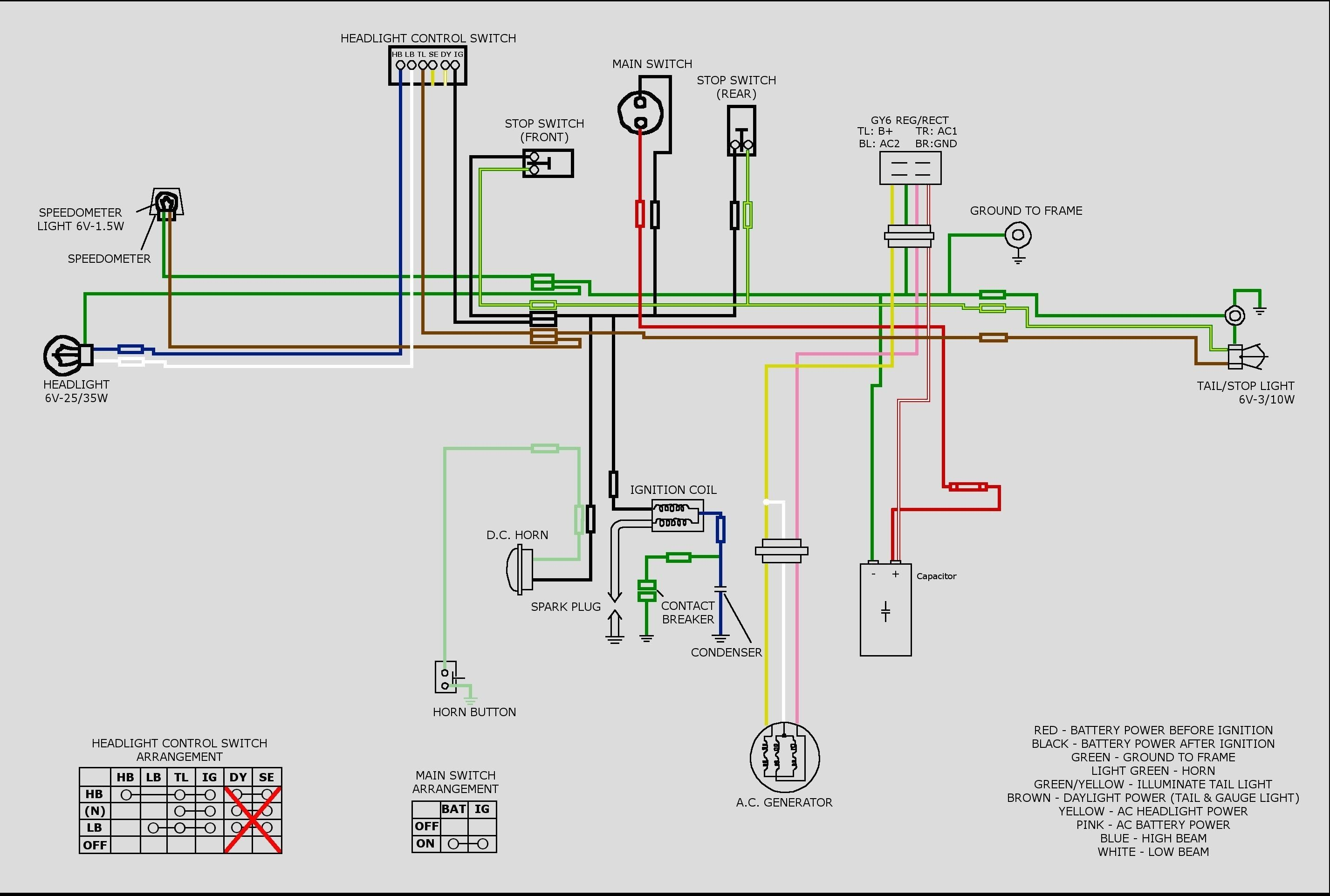 Honda Motorcycle Ignition Switch Wiring Diagram