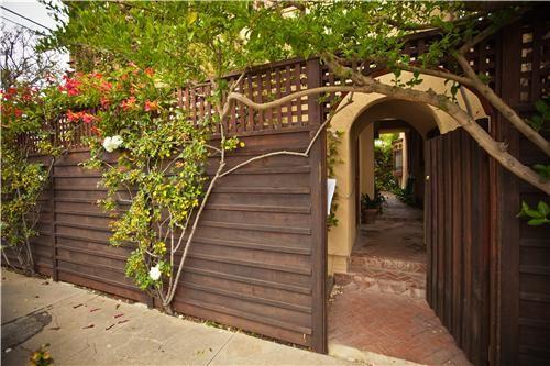 privacy fence garden encloses