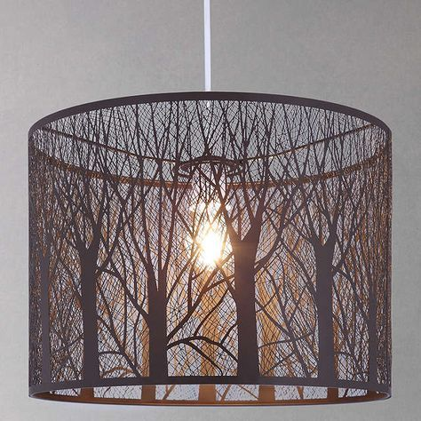 John Lewis Partners Devon Easy To Fit Large Ceiling Shade Taupe Ceiling Shades Rustic Lamp Shades Bedroom Lighting