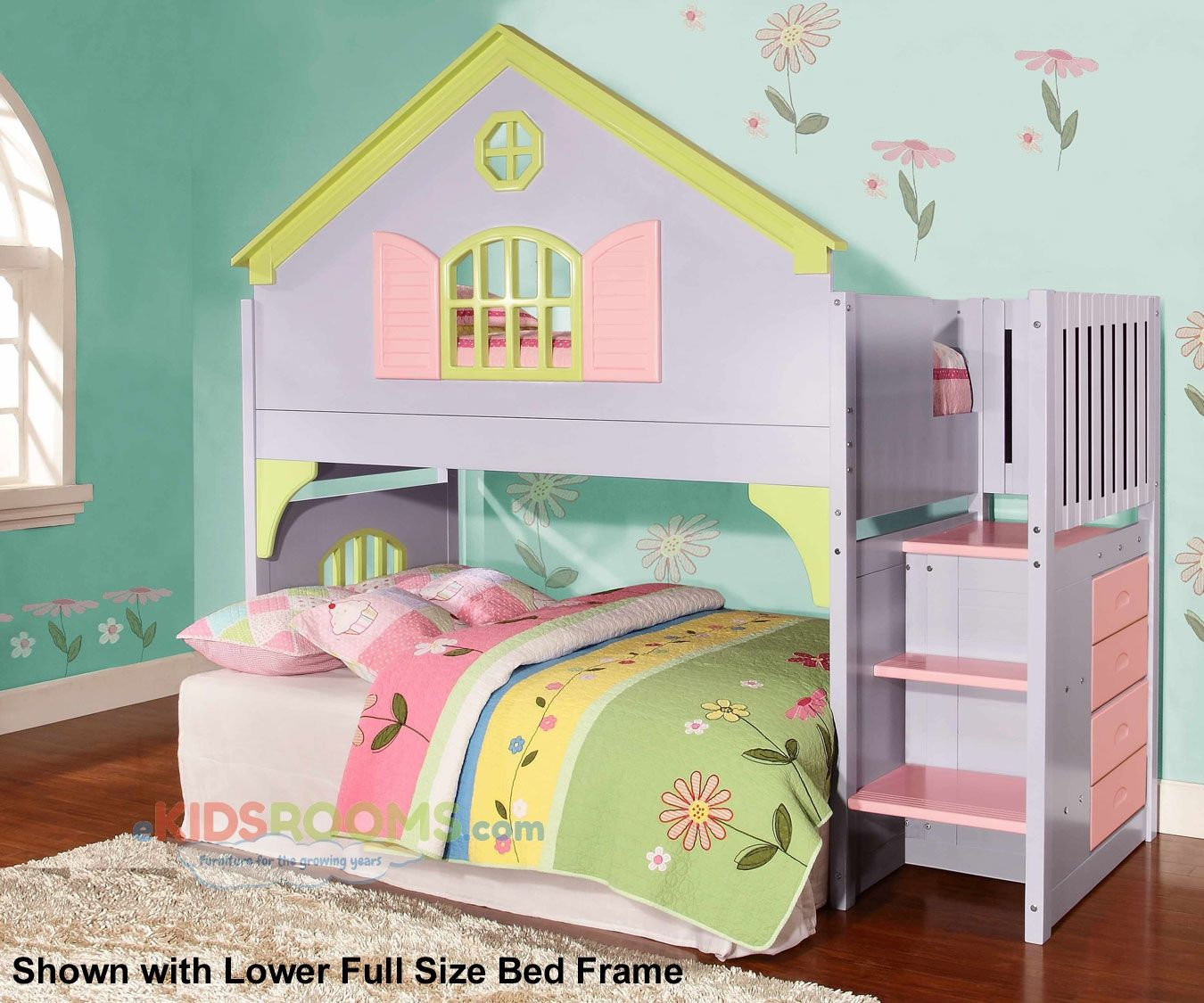 doll house loft bunk bed with stairs loft bunk beds house stairs
