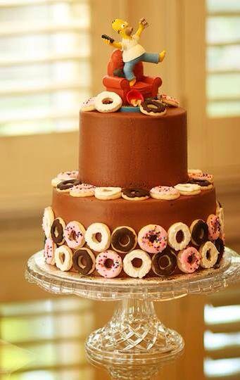 Cake simpson rosquillas g teau anniversaire simpsons - Simpson anniversaire ...
