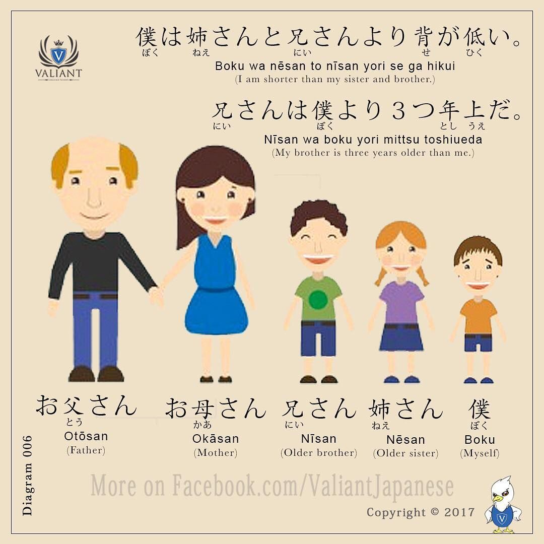 Japanese vocabulary diagram 006 family japanese