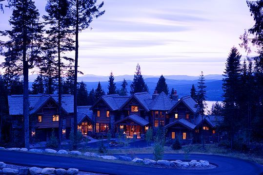 Huckleberry lodge Montana by High Country Builders.