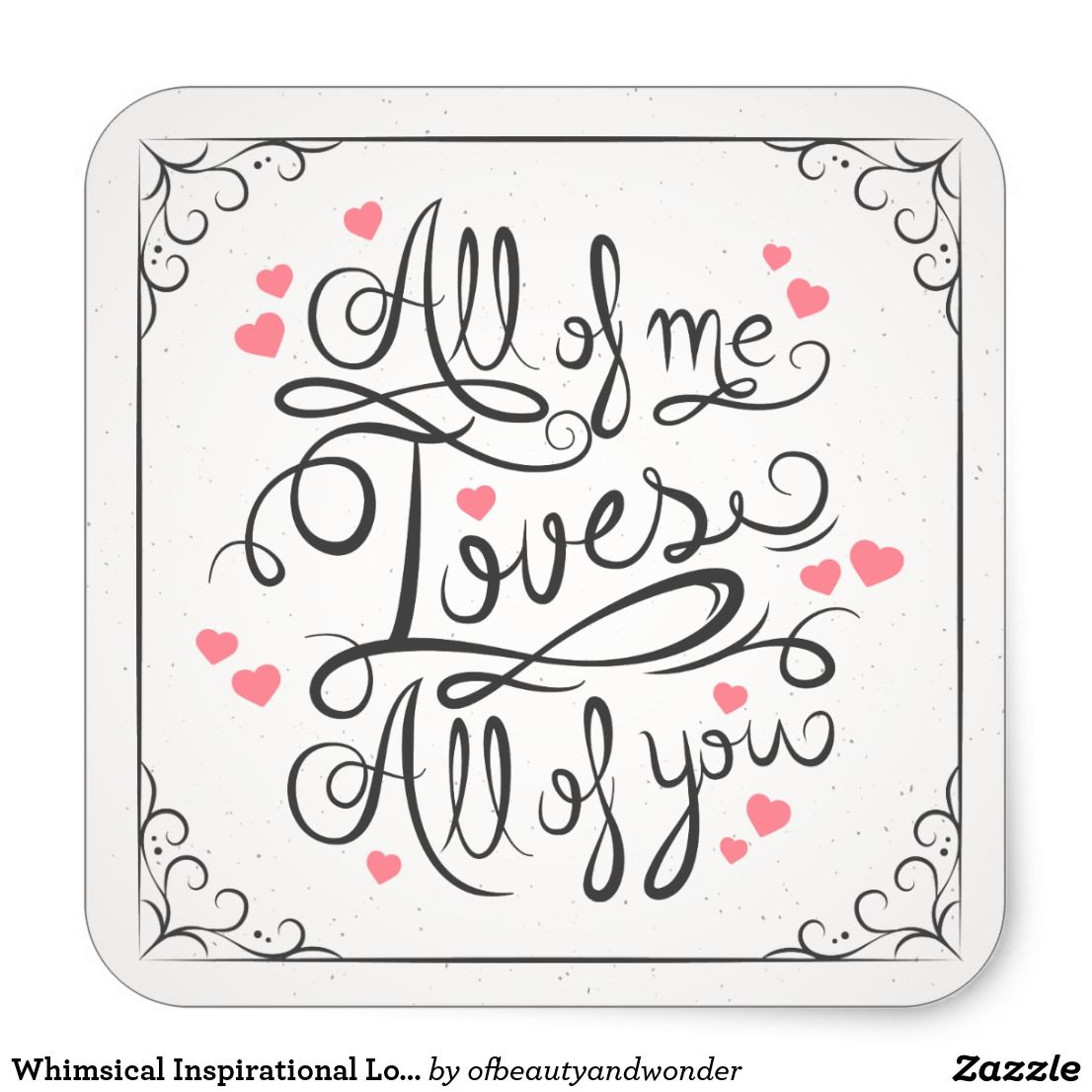 Whimsical Inspirational Love Quote Sticker Seal | Zazzle.com ...