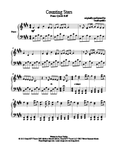 Counting Stars - OneRepublic. Download free piano sheet music for ...