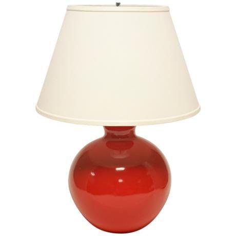 Haeger Potteries Red Bristol Large Ceramic Table Lamp U5012 Lamps Plus Ceramic Table Lamps Table Lamp Ceramic Lamp