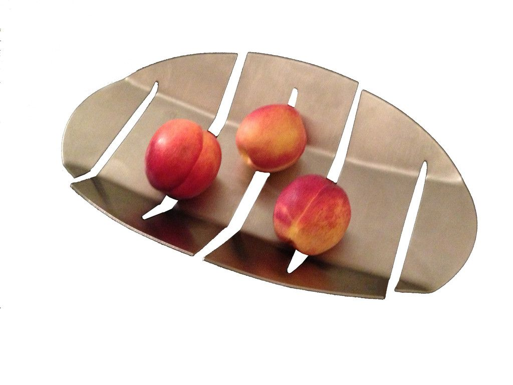 This Metal Fruit Bowl Is Made Of Stainless Steel A Non Corrosive
