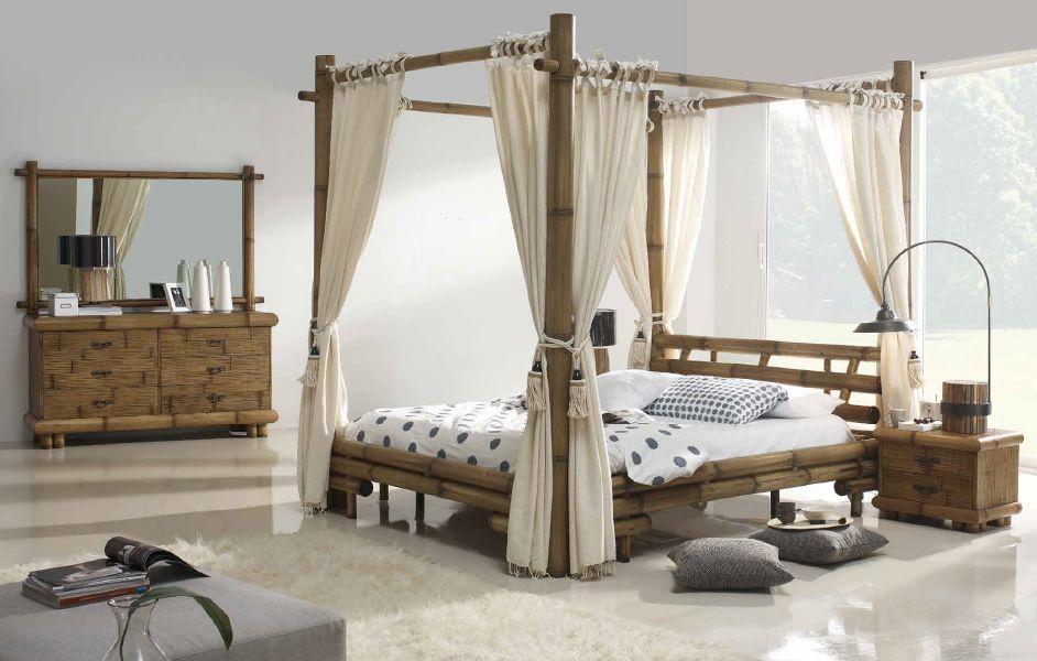 Mobilier en bambou lit exotique mobilier sur enperdresonlapin bambous pinterest lit - Deco chambre exotique ...