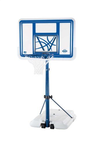 Lifetime 1306 Pool Side Height Adjustable Portable Basketball System With 44 Inch Clear Acrylic Backboard With Images Basketball Systems Pool Basketball Height Adjustable