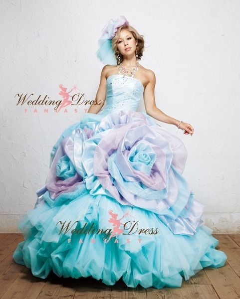 Wedding Dress Fantasy - Aqua and Lavender Wedding Dress | Fancy ...