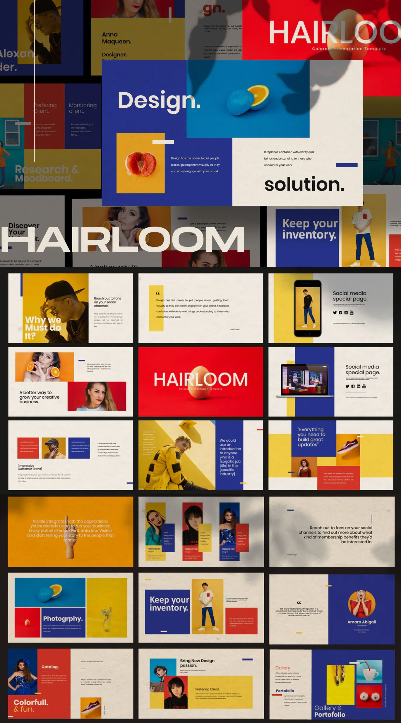 HAIRLOOM - Powerpoint Business Creative Presentation Template