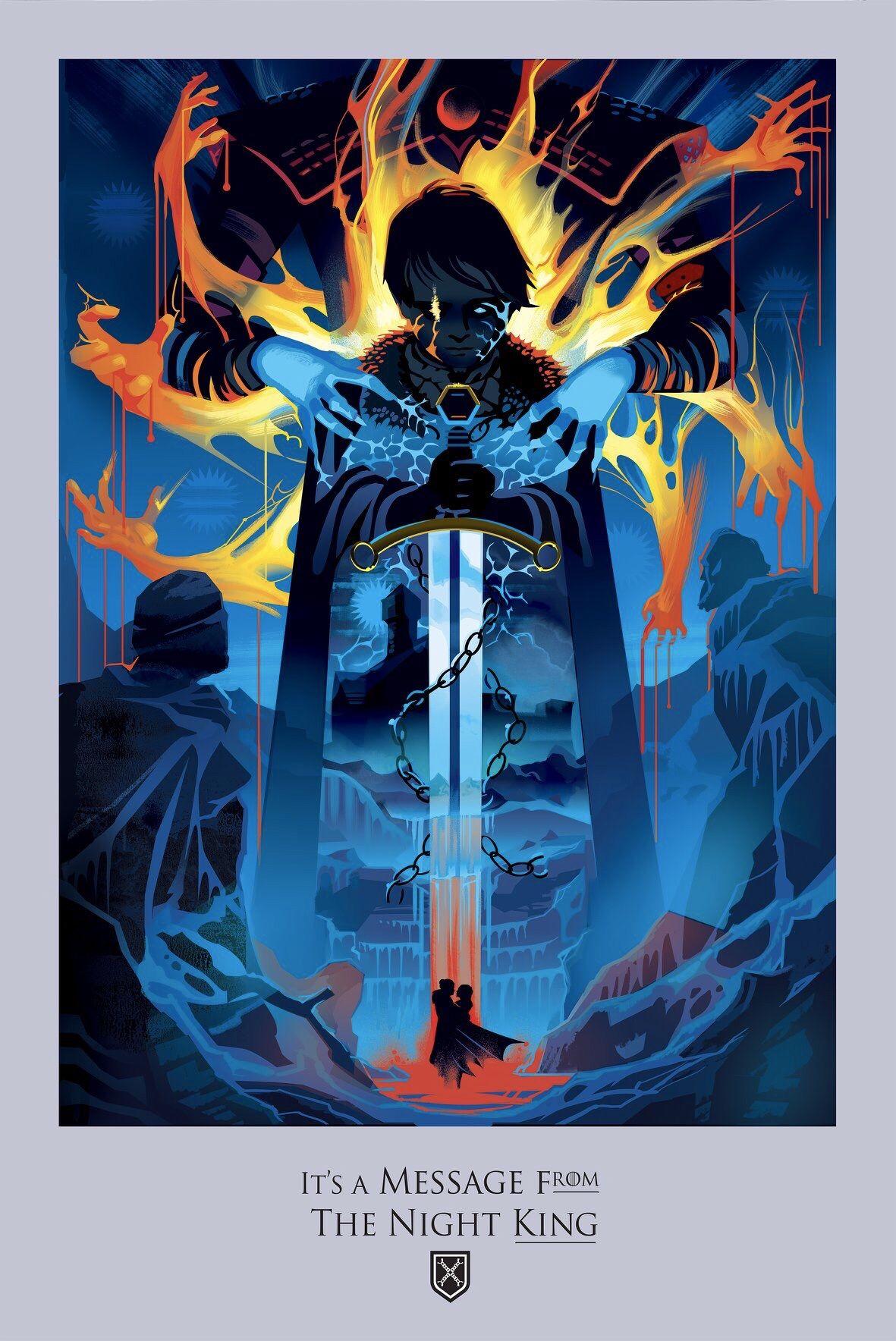 """Season 8 Episode 1 """"Winterfell"""" Night king, Making game"""