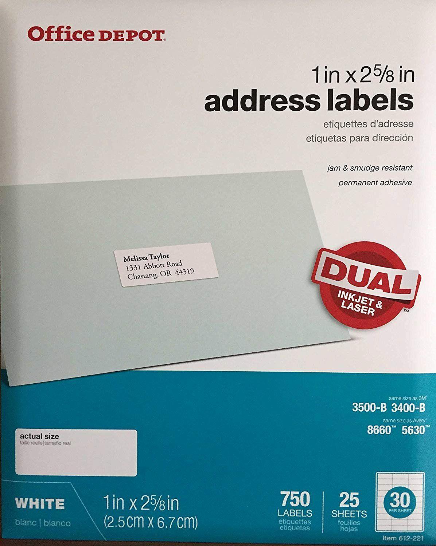 Office Depot Address Label Template 2020 Address Label