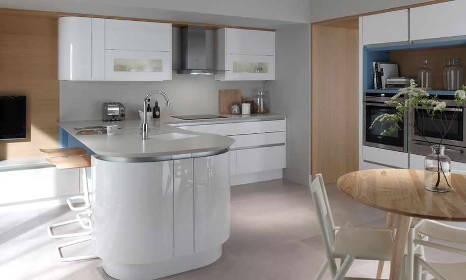 Modern curved kitchens designer curved fitted kitchens house