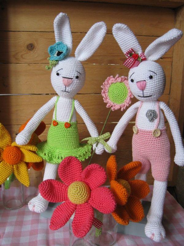 Crochet Pattern Benny and Jenny rabbit