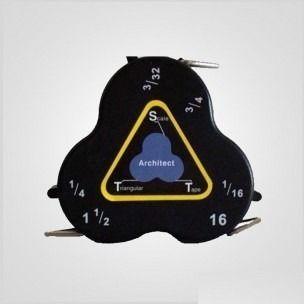 Cinta Métrica De Escala Triangular - $ 452.00