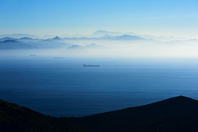 Strait Of Gibraltar Strait Of Gibraltar Gibraltar Scenery