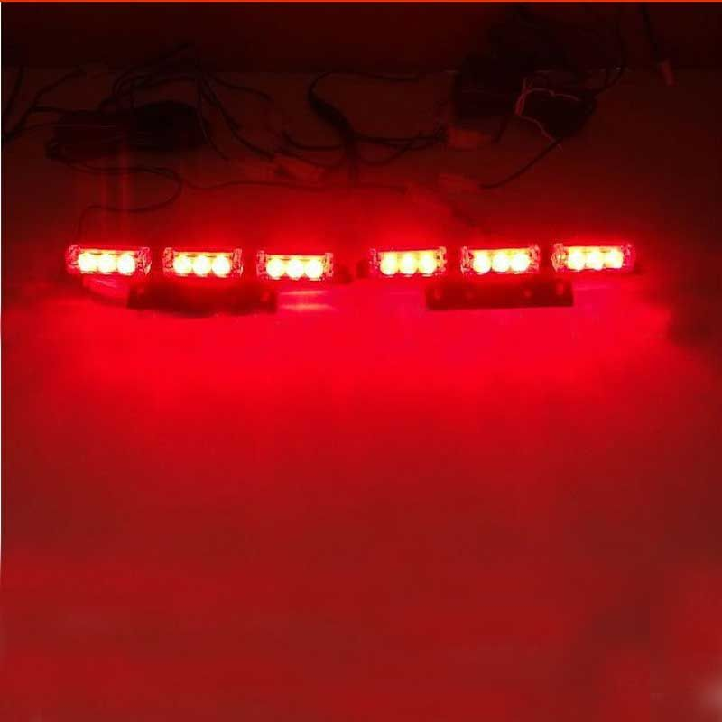 Free Shipping Brand New Red Blue White Green Amber Yellow 2x9 LED Strobe  Flash Light Grill