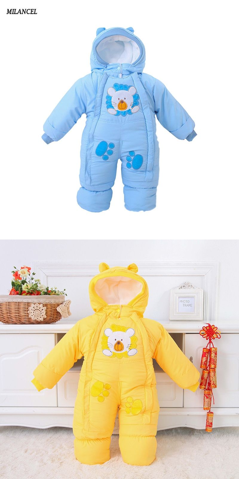 660dd3287 Autumn   Winter Baby Clothes Infant One Piece Baby Rompers Fleece ...