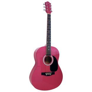 Buy Martin Smith Full Size Acoustic Guitar Pink At Argos Co Uk Your Online Shop For Acoustic Guitars Acoustic Guitar Accessories Pink Guitar Guitar