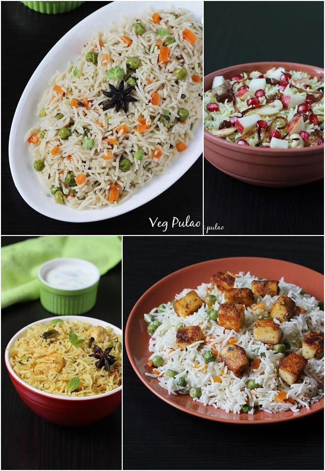 Pulao recipes - a collection of 20 quick and delicious pulav varieties from Indian Cuisine. It can be served with a simple raita or a salad.