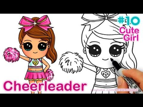 How to Draw Chibi Cheerleader step by step Cute Girl ...