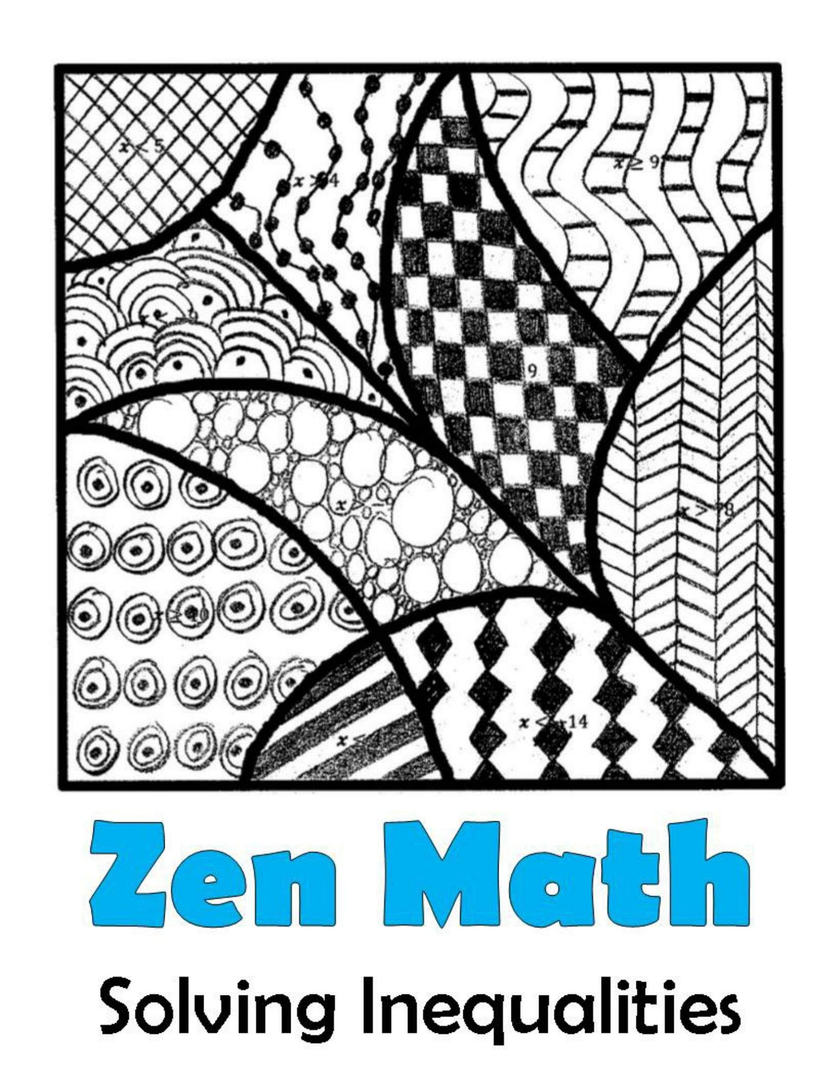 Solving Inequalities Zen Math