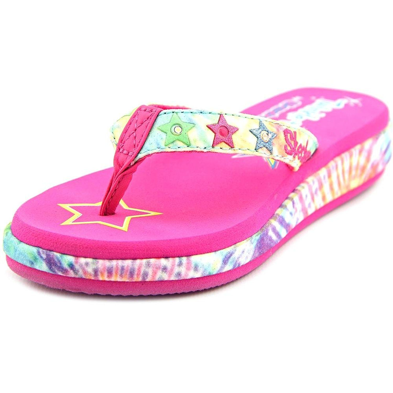 girls skechers flip flops