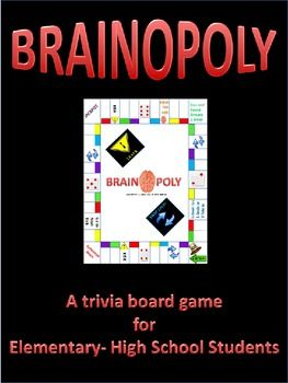 Brainopoly Trivia Math Madness Middle Schoolhigh School
