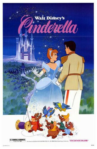 Cinderela (1950) Cartaz Do Filme Original R. 1981-Ss-QUASE PERFEITO-Tri-DOBRADO
