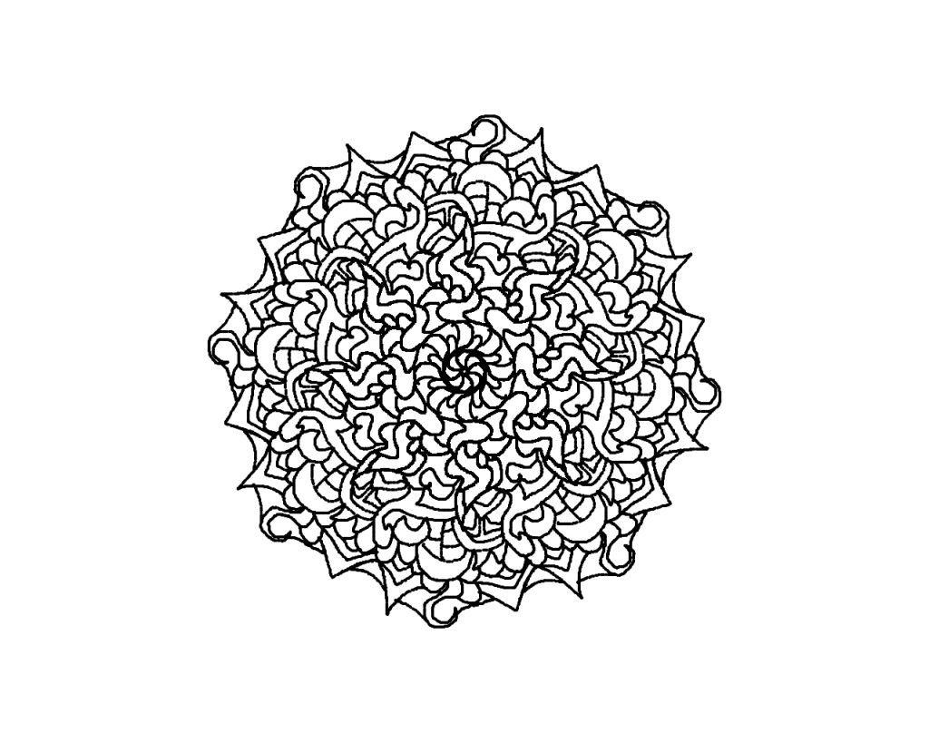 Difficult Level Mandala Coloring Pages   DownloadDifficult Mandala ...