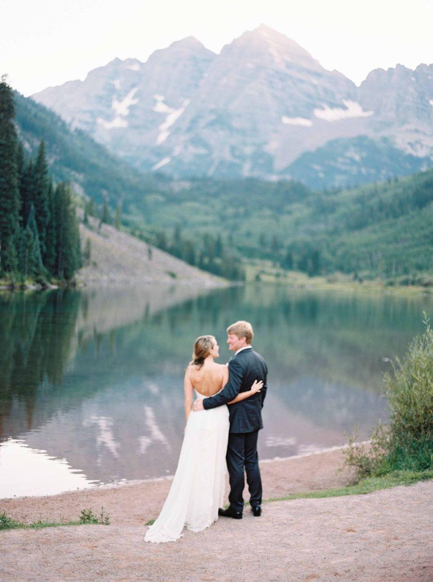 Aspen Colorado Wedding, this photo was taken at the famous