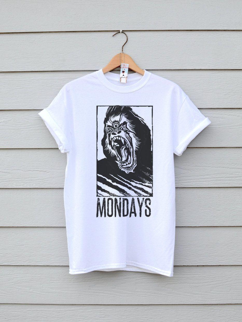 Gorilla Mondays In White, By Ben Prints On Etsy