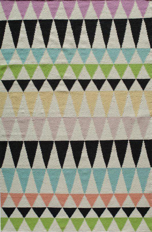 Hagler Geometric Handmade Flatweave Wool Multicolor Area Rug Area Rugs Blue Area Rugs Pastel Rugs