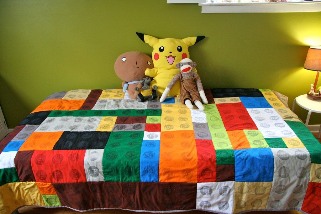 Lego quilt for boys #boys #quilt