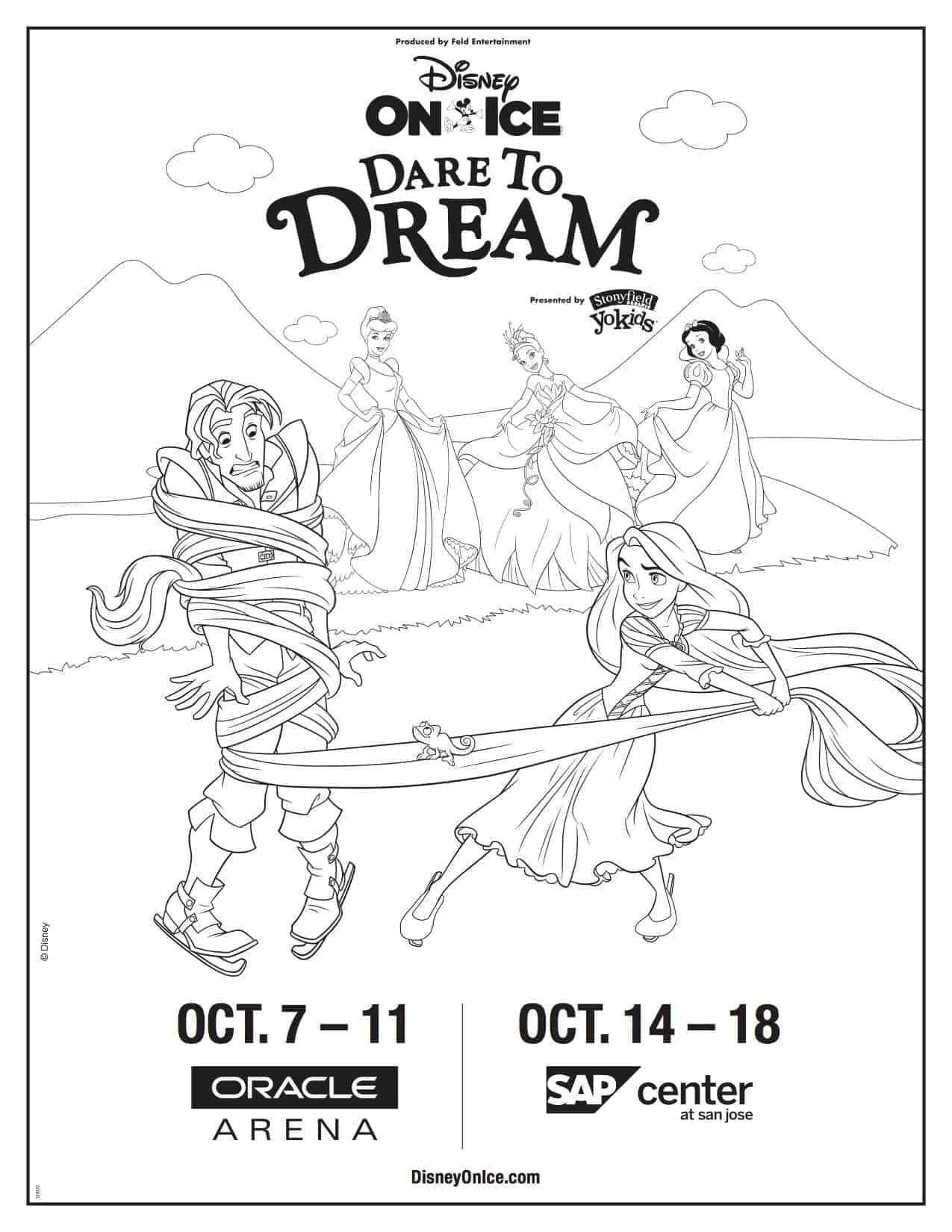 Disney On Ice Dare To Dream Coming To The Bay Area Coloring Page Half Crazy Mama In 2020 Free Disney Coloring Pages Coloring Pages Disney Coloring Pages