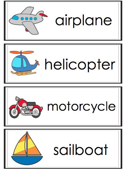 Transportation Words Transportation Theme Preschool Transportation Preschool Transportation Activities