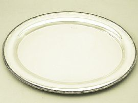 Antique Edward VIII English sterling silver salver.