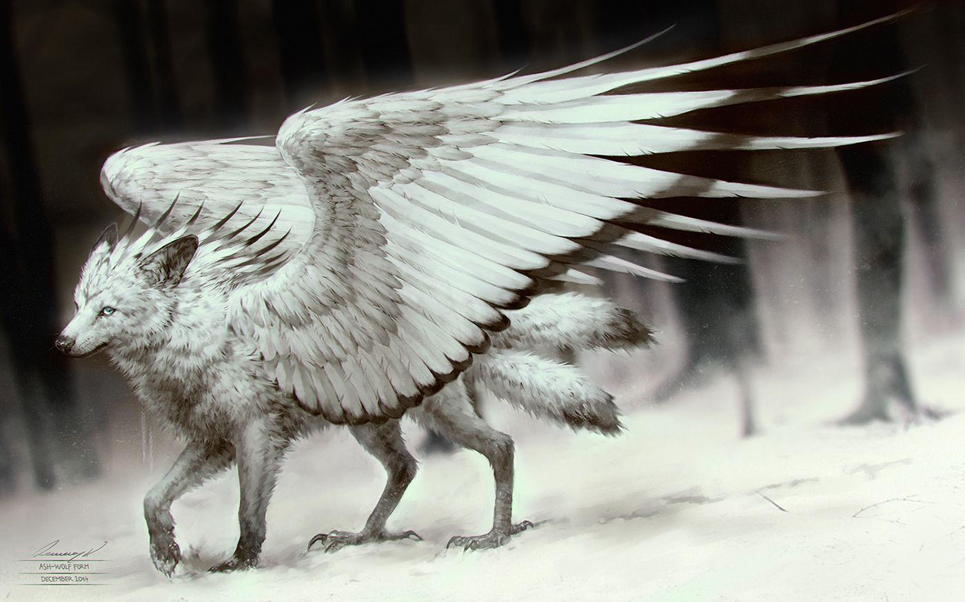 Spread My Wings by tincek-marincek wolf angel monster ...