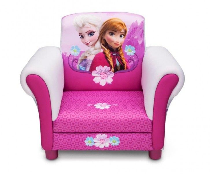 Bambini Disney ~ Poltroncina disney frozen elsa e anna in legno imbottita arredo