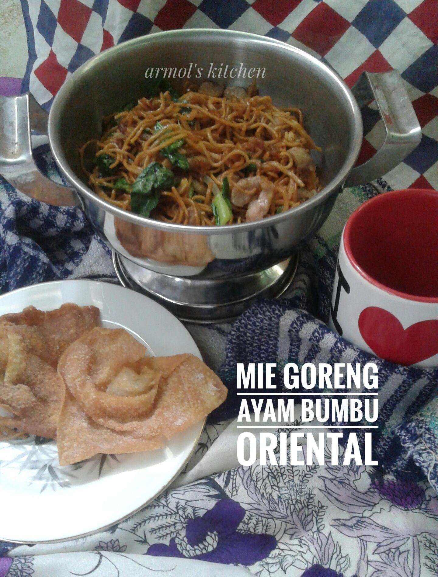 MIe goreng ayam bumbu oriental.  Yuk simak resepnya https://aneka-resep-masakan-online.blogspot.co.id/2016/11/resep-mie-goreng-ayam-bumbu-oriental.html