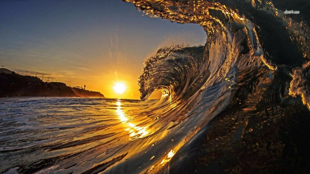 خلفيات 4k و Hd منوعة طبيعة Nature عالية الوضوح 93 Imagem De Fundo De Computador Por Do Sol Praia Ondas