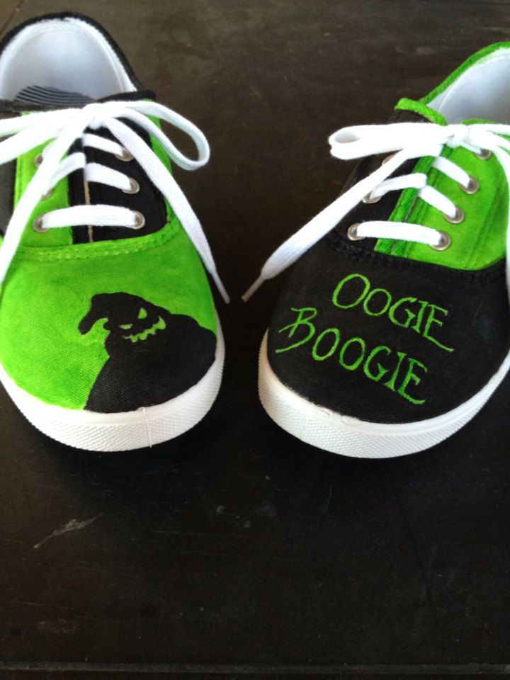 Nightmare Before Christmas Shoes Diy.Hand Painted Nightmare Before Christmas Shoes By