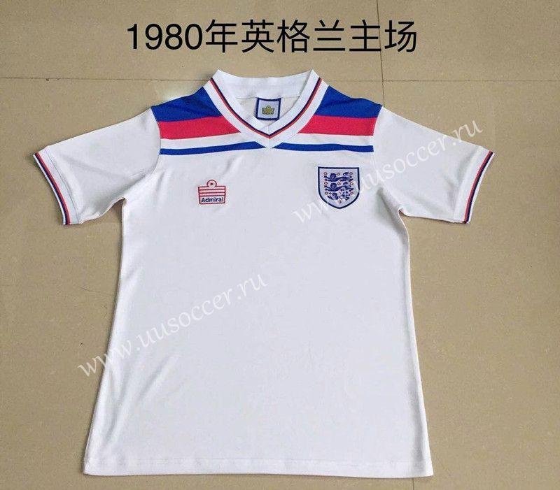 1980 retro version england home white thailand soccer