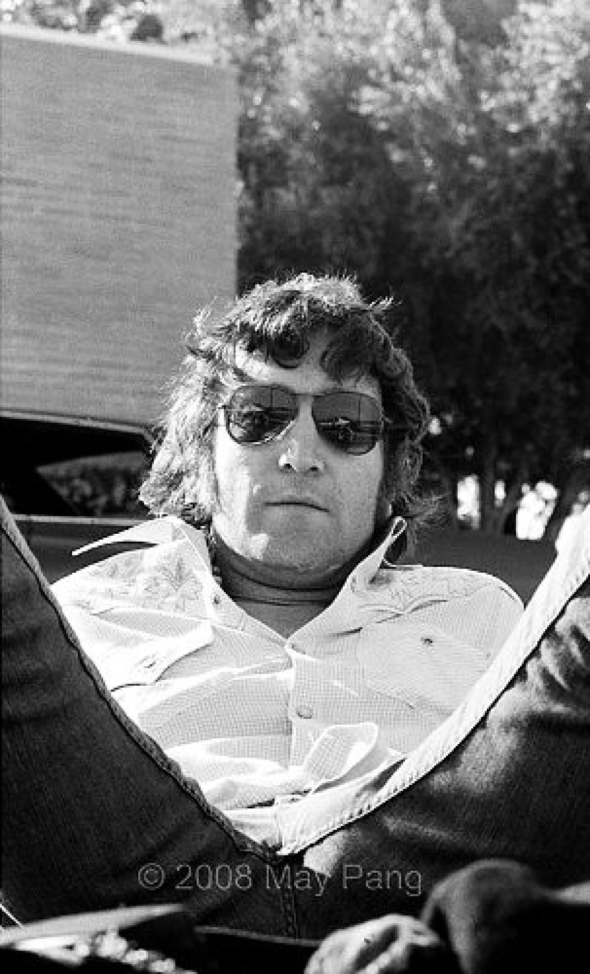 Palm Springs 1974 Photo Taken Of John Relaxing On His Weekend Holiday With Harry Nilsson Not Pictured This Was Just Following The Infamous
