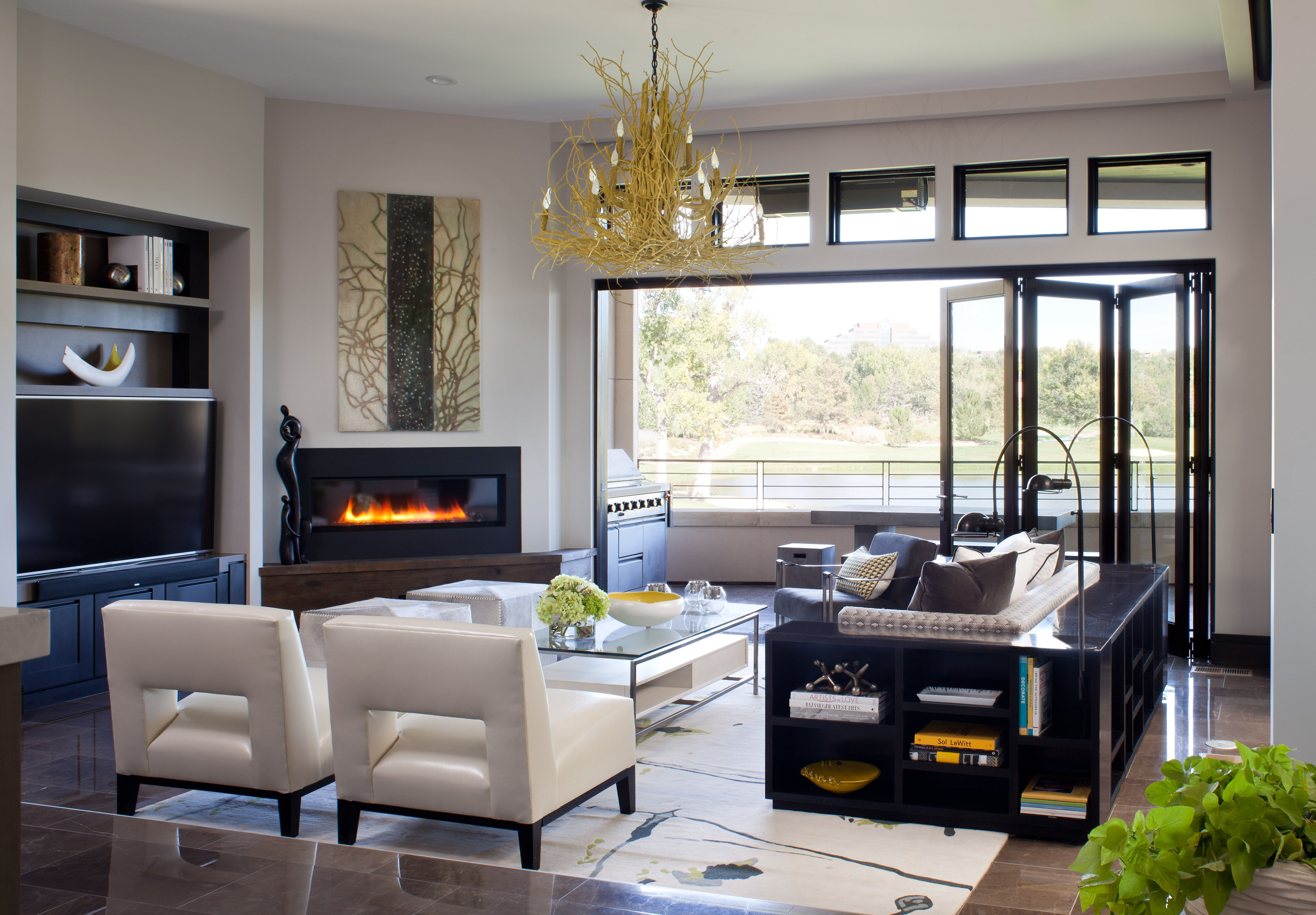 Contemporary Haven   Contemporary   Living Room   Denver   Ashley Campbell Interior  Design  Layout For Angled Fireplace