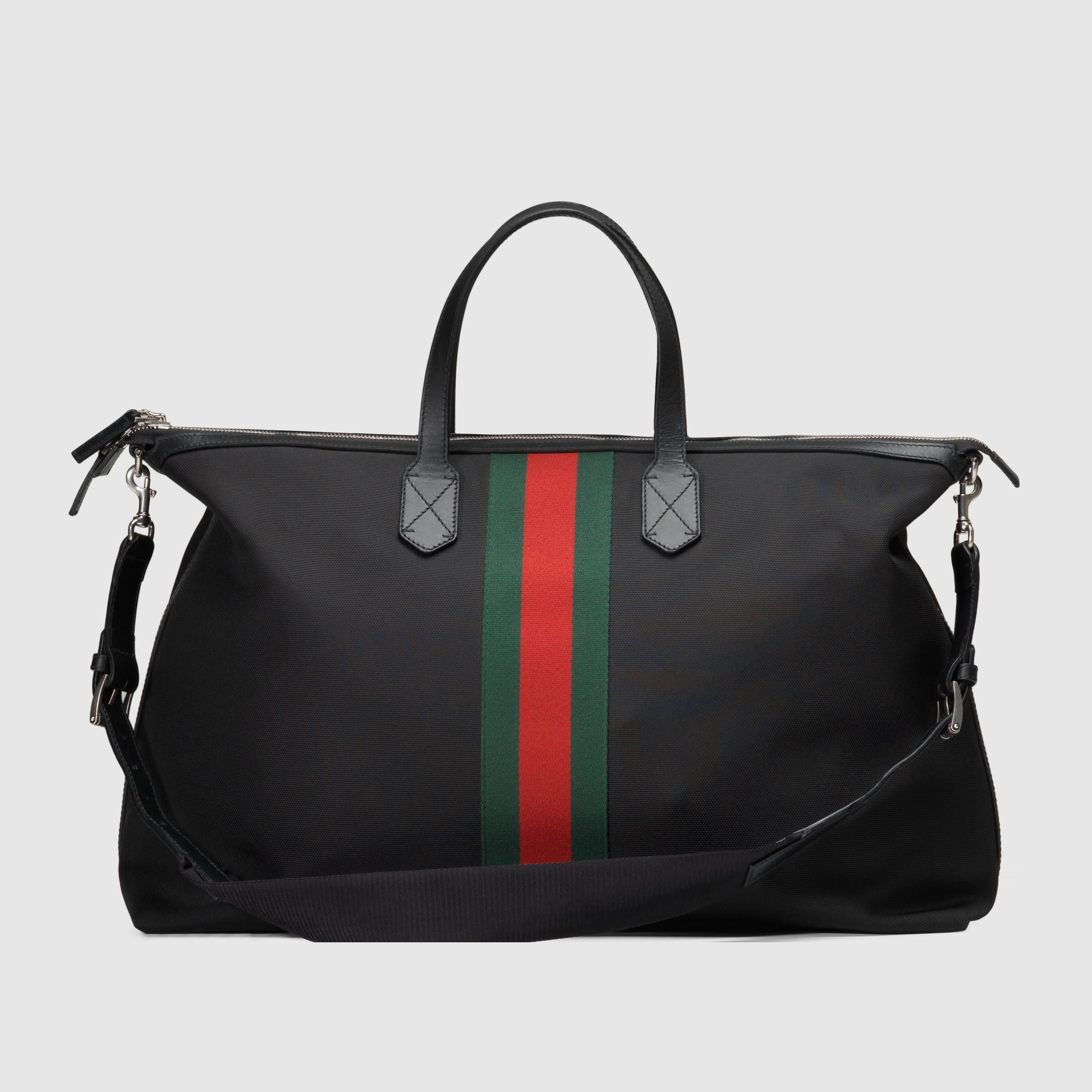 7f60d7c34 Gucci Men - Techno canvas carry-on duffle - 353406KWT7N1060 ...