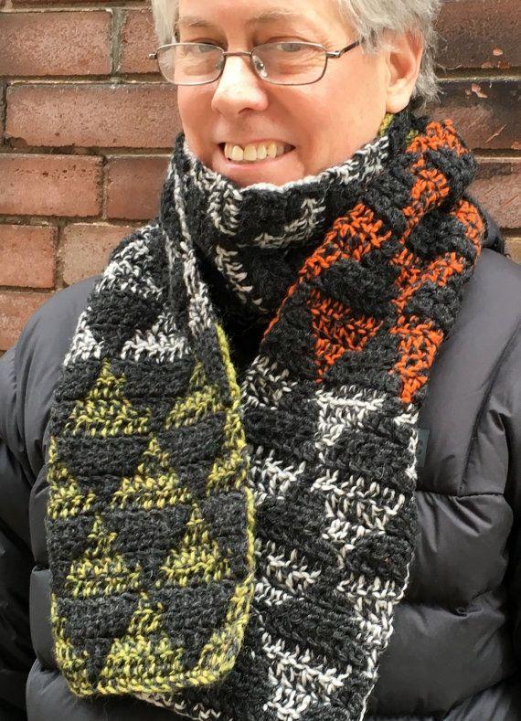 CROCHET PATTERN Mens Scarf, Crochet Scarf Pattern, Mens Crochet ...