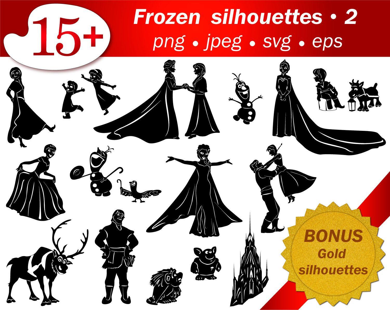 SVG frozen cartoon silhouettes cricut Disney silhouettes